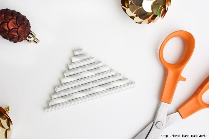 Новогодняя елочка из бумажных трубочек МК 6 (700x466, 128Kb)