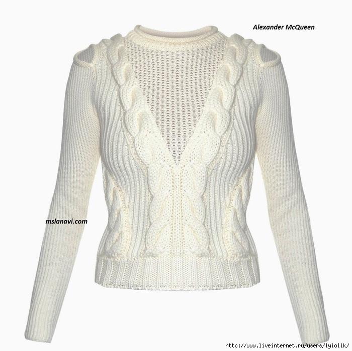 вязаный-модный-пуловер-спицами (700x699, 213Kb)