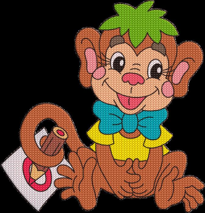 Рисунки ученая обезьянка