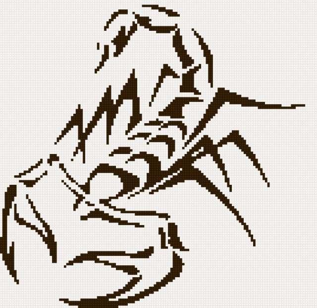 тату скорпион 3 2цв (640x620, 248Kb)