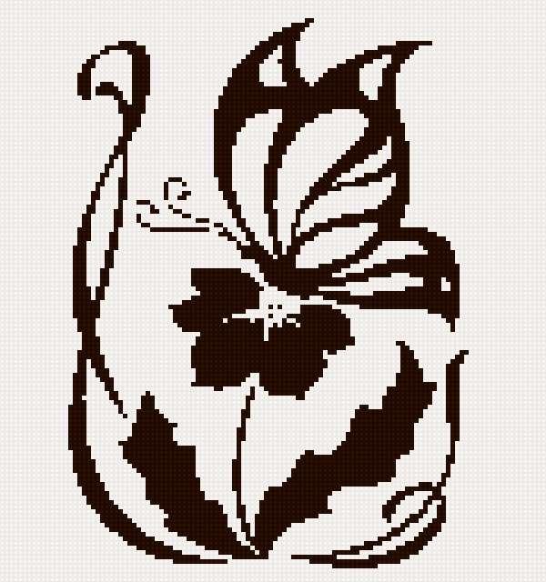 тату цв с бабочкой 2цв (600x640, 256Kb)