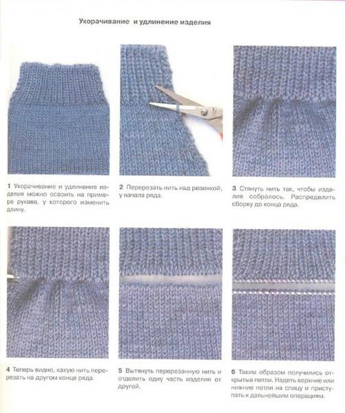 Обрезать вязаное платье
