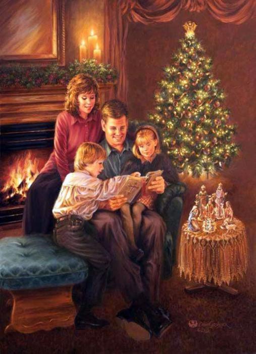 Картинки в новый год с семьей