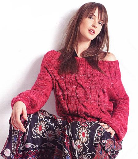 пуловер/5761439_krasnyjpuloverskosami_0 (450x517, 74Kb)