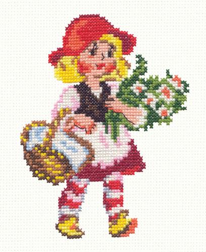 Чудесная игла Д#041 - Красная шапочка (408x500, 220Kb)