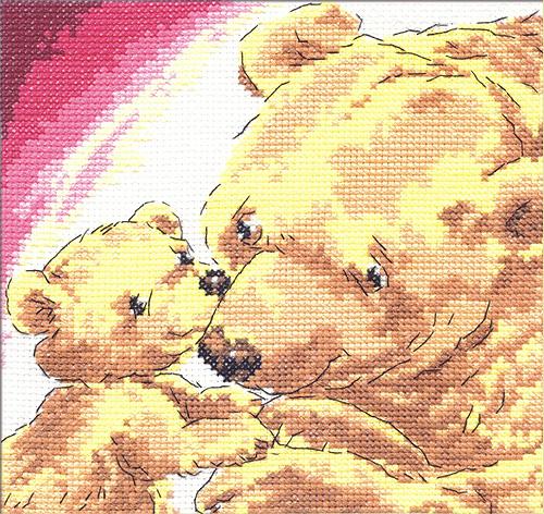 Чудесная игла Д#084 - Медведица с медвежонком (500x472, 470Kb)