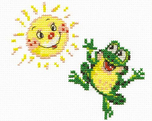 Чудесная игла Д#094 - Веселый лягушонок (500x400, 197Kb)
