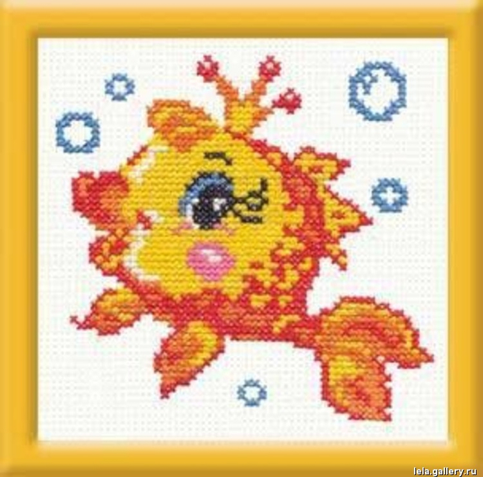 Чудесная игла Д#025 - Золотая рыбка (700x690, 368Kb)