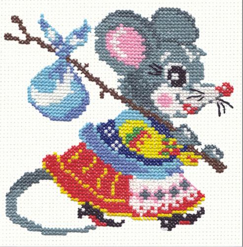 Чудесная игла Д#024 - Мышка (493x500, 282Kb)