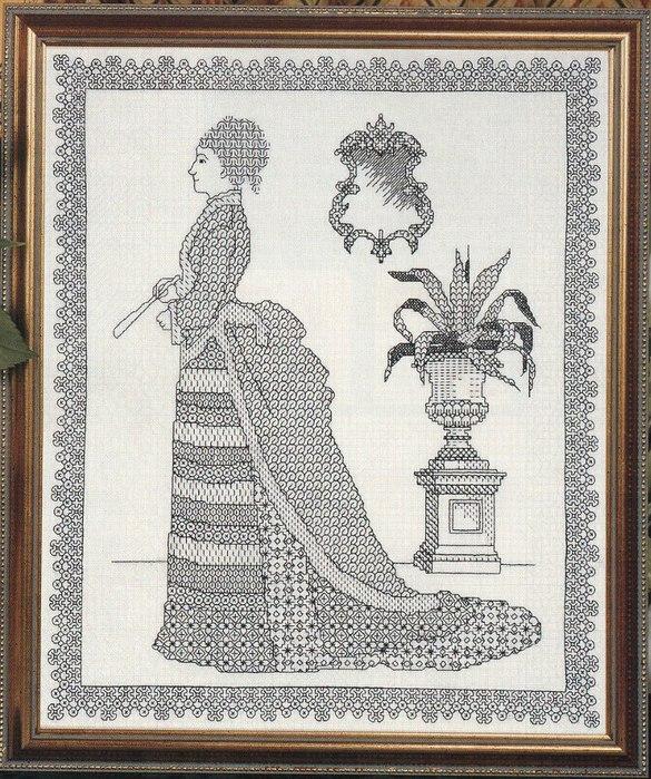 дама с зеркалом (585x700, 170Kb)