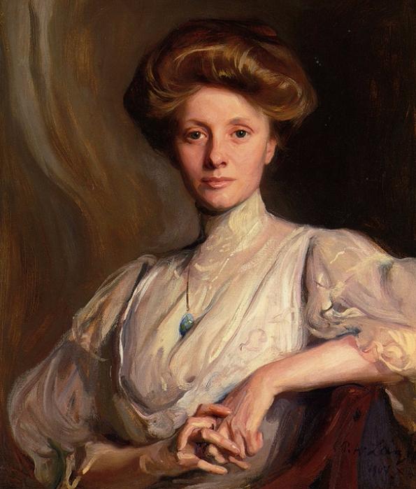 de_Portrait_of_Miss_Faith_Moore_Seated_half_length_1907 (595x700, 434Kb)