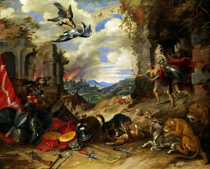 Аллегория войны (ок.1640) (частная коллекция) (700x561, 474Kb)