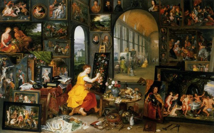 Аллегория искусств (частная коллекция) (700x434, 410Kb)