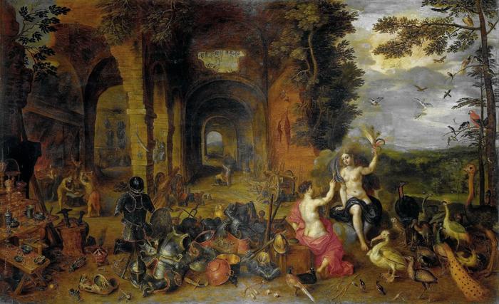 Аллегория Четырёх стихий. Огонь и Воздух (1650-е) (Флоренция, Уффици) (700x427, 398Kb)