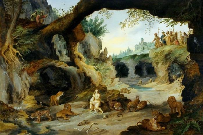 Даниил во рву со львами (частная коллекция) (700x464, 406Kb)