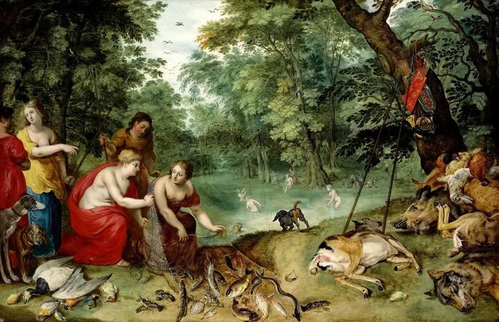Диана и нимфы после охоты (частная коллекция) (700x452, 416Kb)