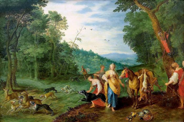 Диана на охоте (частная коллекция) (700x463, 431Kb)