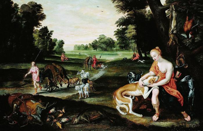 Диана после охоты (частная коллекция) (700x453, 412Kb)