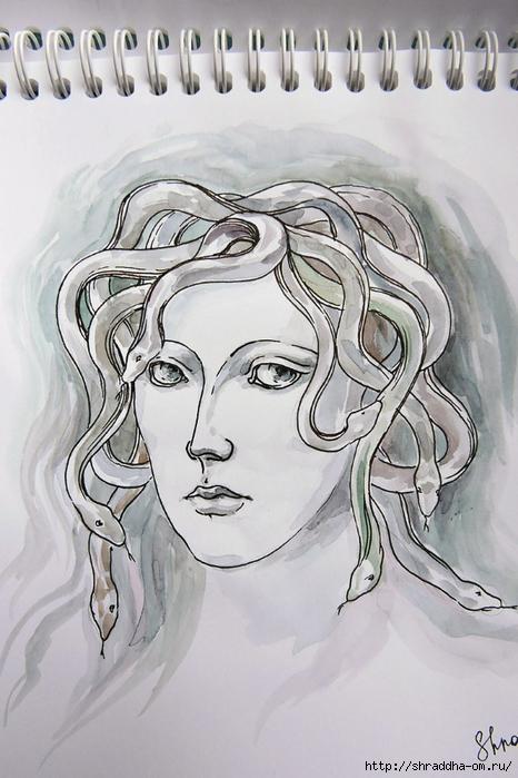Медуза Горгона от Shraddha (2) (466x700, 260Kb)