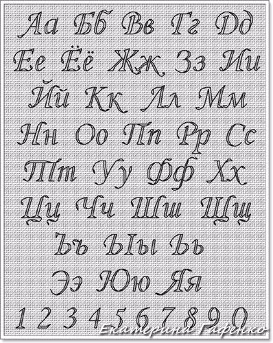 Вышивка шрифтов крестиком