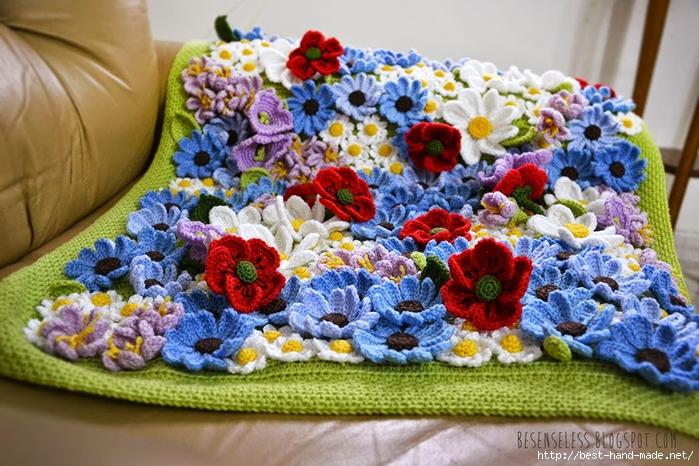 crochet flower blanket - copertina con fiori uncinetto - airali handmade (700x466, 319Kb)