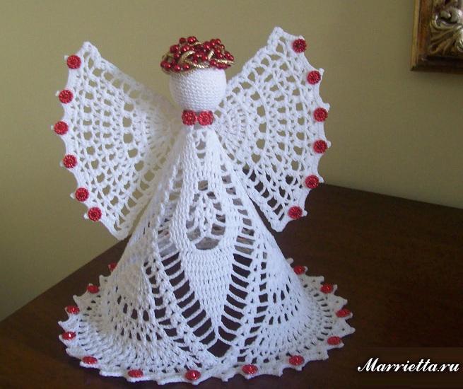 Рождественский ангел крючком. СХЕМА (1) (655x550, 358Kb)