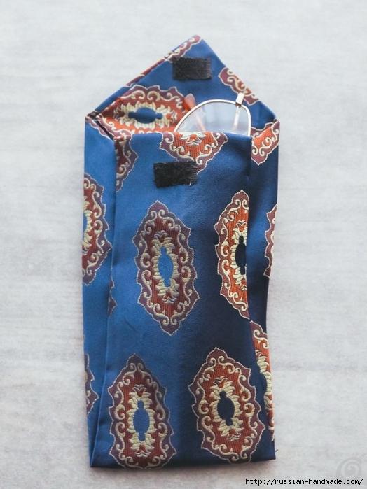 Из галстука. Чехол для очков своими руками (5) (524x700, 242Kb)