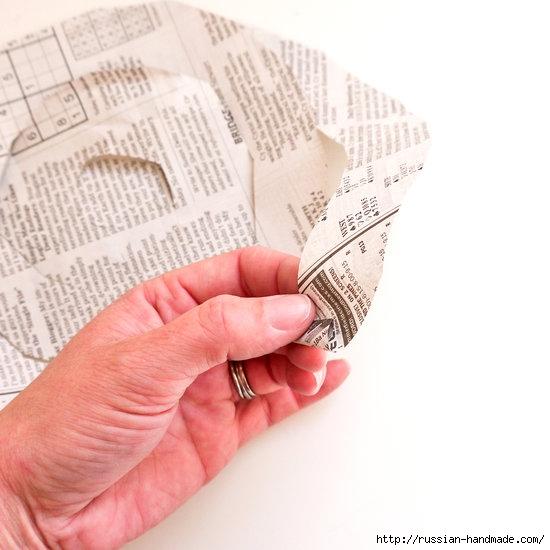 Как из газет сделать букет цветов (4) (550x550, 125Kb)