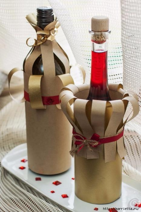 Подарочная упаковка из бумаги для бутылки спиртного (10) (466x700, 225Kb)
