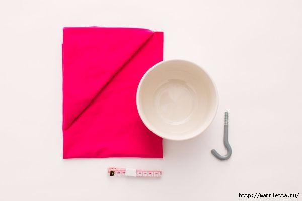 Из футболки. Плетение кашпо для цветочного горшка (2) (600x400, 40Kb)