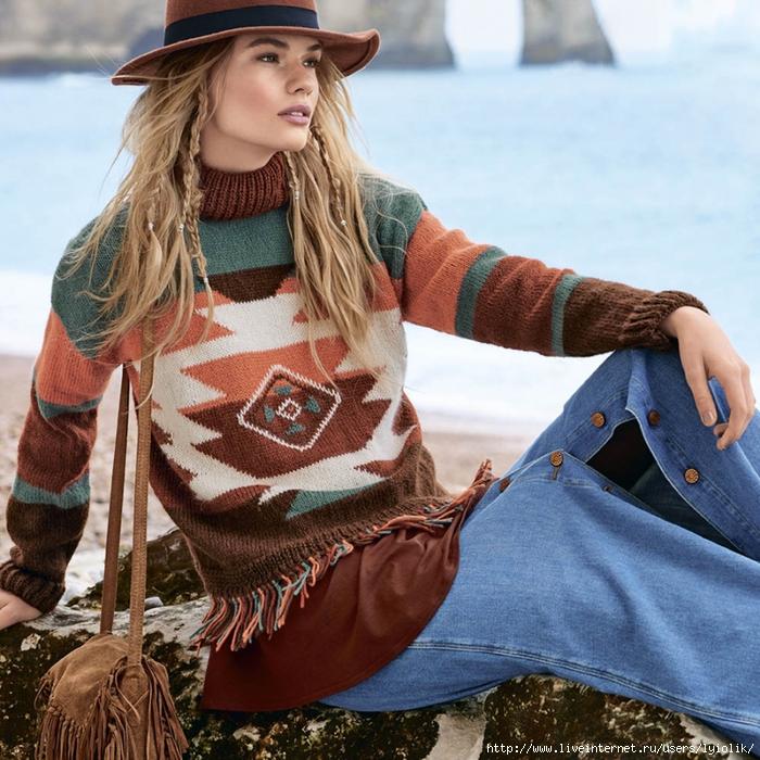 Схемы вязания одежды в стиле хиппи инструкции