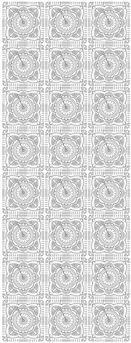 Синий плед крючком квадратными мотивами (3) (268x700, 415Kb)