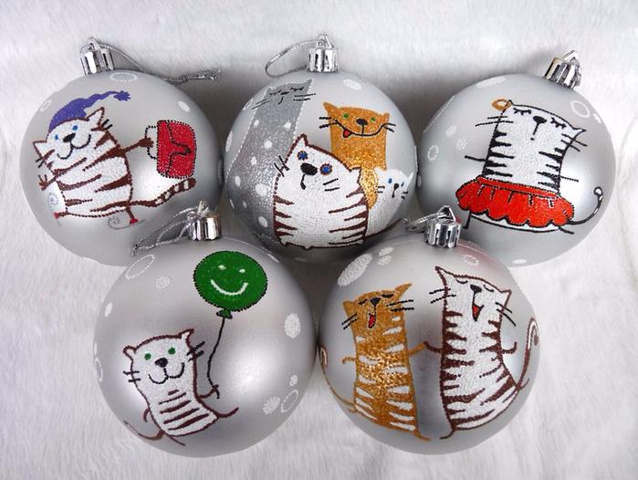Росписи елочных шаров своими руками