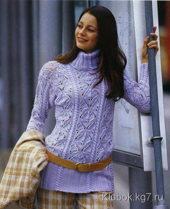 ажурный пуловер (567x700, 75Kb)