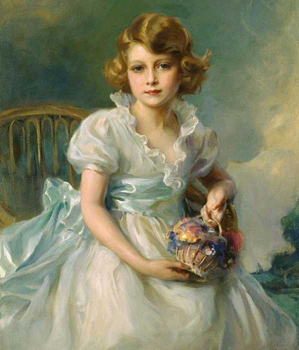 The Queen, when Princess Elizabeth of York ,1933 (599x700, 409Kb)