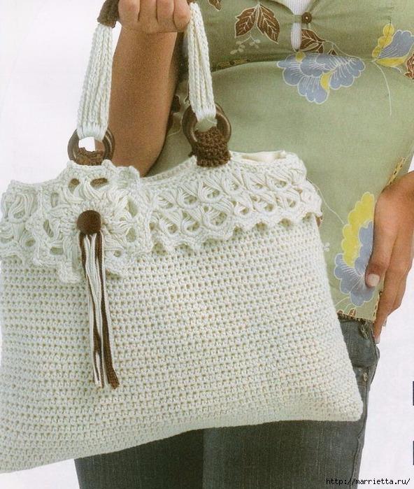 Красивая сумочка крючком. Схема (3) (592x699, 304Kb)