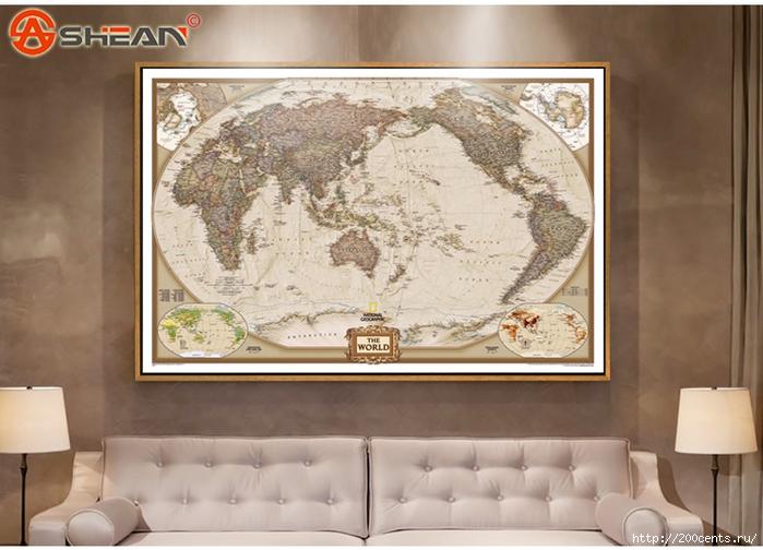 Vintage Retro Matte Kraft Paper World Map Antique Poster Wall Sticker Home Decora 72.5*47.5CM/5863438_VintageRetroMatteKraftPaperWorldMapAntiquePosterWallStickerHomeDecora725472 (700x504, 240Kb)