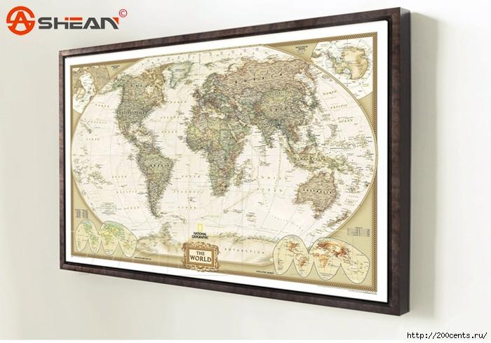 Рамка для карты мира своими руками 50
