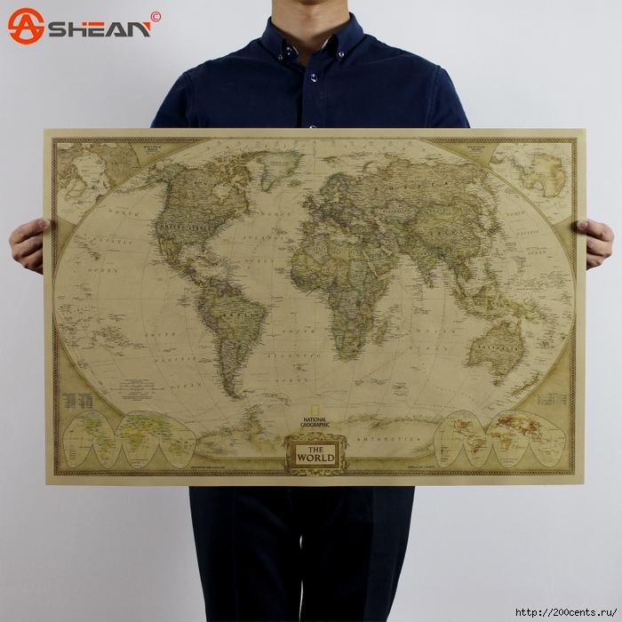Vintage Retro Matte Kraft Paper World Map Antique Poster Wall Sticker Home Decora 72.5*47.5CM/5863438_VintageRetroMatteKraftPaperWorldMapAntiquePosterWallStickerHomeDecora725476 (700x700, 353Kb)
