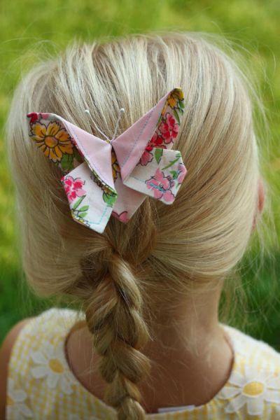 Текстильные бабочки для украшения волос (9) (400x600, 193Kb)