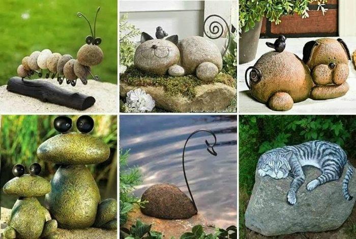 Как сделать фигурки из камня своими руками