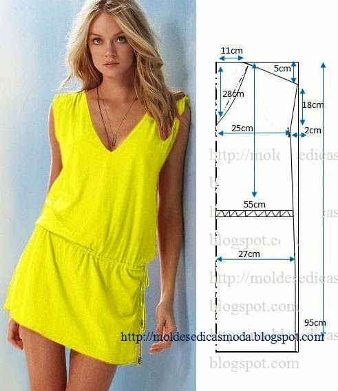 Выкройки летних платьев в картинках