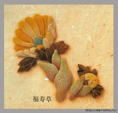 Цветочная аппликация от китайских мастериц (19) (456x434, 111Kb)