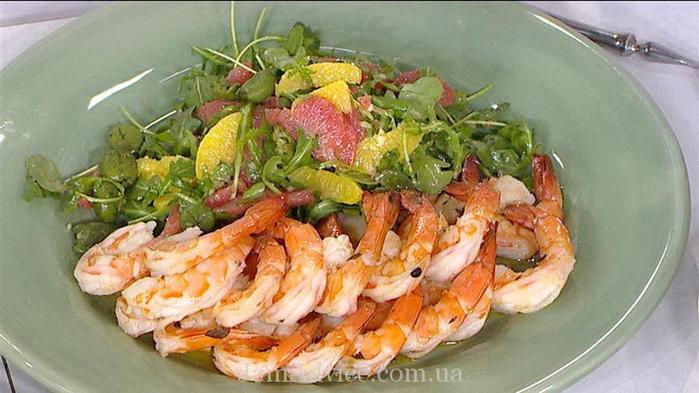 Салат из креветок рецепт