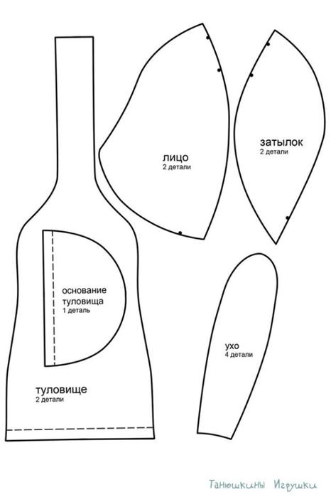 Спортсмен КРОЛИК - тильда. Выкройка (2) (466x700, 63Kb)