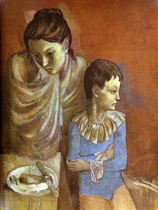 Pablo Picasso. (Mother and Son). 1905. (525x700, 366Kb)