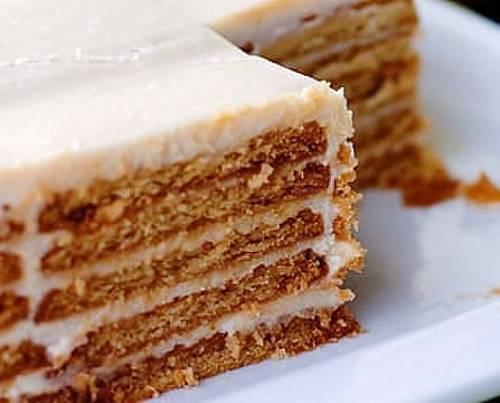 Как сделать торт из печенья со сгущенкой