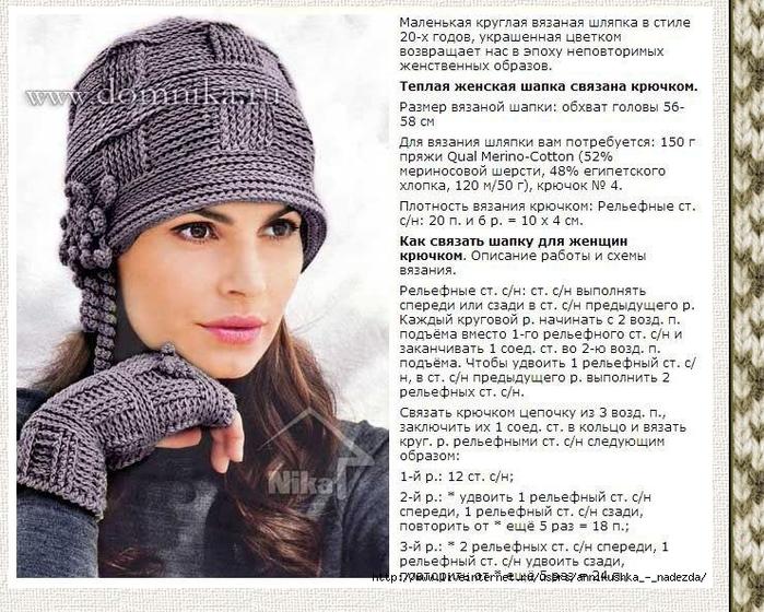 вязаные шапки спицами 2014 со схемами