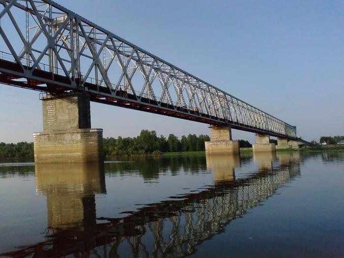 Мост на реке Чулым