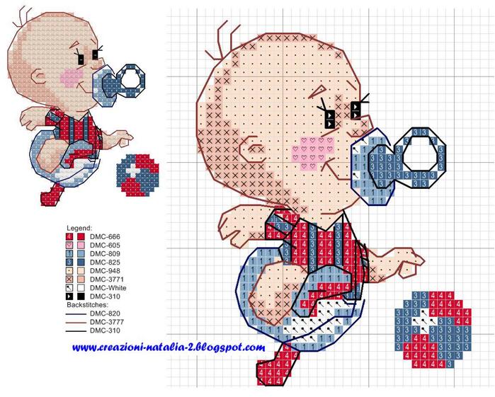 Схема вышивки с мальчиком